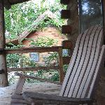 The rocking chair on our front porch.