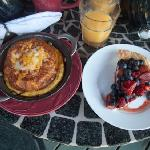 mmm...a breakfast croissant and fresh berry tart, just one of many great breakfasts!