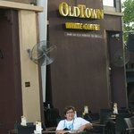 me in front of Old Town Coffee