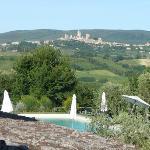 vue de la chambre sur San Gimignano