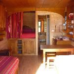 Photo intérieure d'une roulotte