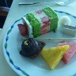 just one of the plates of desserts!