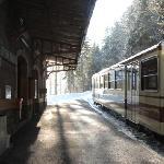 Le terminus du train à crémaillère