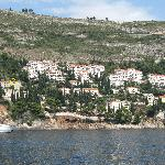 View of the apt from the Lokrum Island ferry