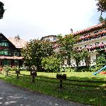 Hotel Czerwenka is situated in a clearing on top of an Austrian hillside.