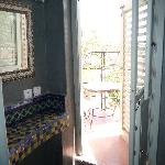 Terraza vista desde el baño de la habitación Sud Express