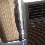 one of the AC units - showing poor installation