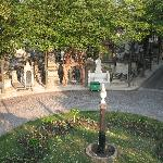 Montmartre cemetery located behind Ibis Paris Montmartre
