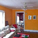 Living room - love the orange!