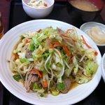 究極の野菜炒め定食