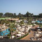 Vista de las piscinas desde la habitación