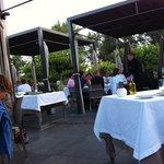 outside terrace dinner