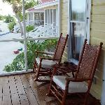 The porch of the cabana, where our morning coffee was served