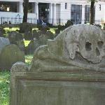 Gravesite where Paul Revere, Sam Adams, John Hancock, Mother Goose and others are buried