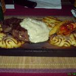 Diner at the restaurant