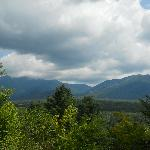 View of Mount Lafayette and Cannon Mountain from Frost Place