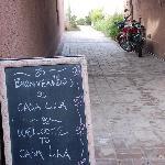 The welcoming blackboard