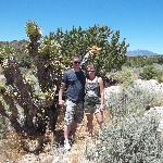 Wife and I at beginning of trail
