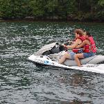 heading out on the jet-ski