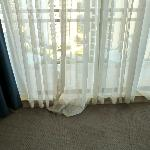 old shoddy curtains