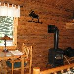Inside from back corner of cabin