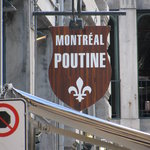 montreal poutine sign