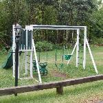 swing set near the beach area