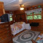 Rainey's room, just look at all the pine paneling.