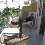 Balcony of rm131, D.manuel hotel Lagos