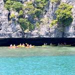Kayaking in the caves