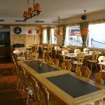 Restaurant mit Blick nach Klosters