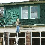 Painting the outside of the house