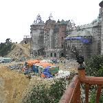 The massive castle under construction right next door. Don't expect a good night's sleep!