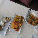 Summer Rolls, Sweet & Sour, Cashew Nut