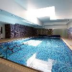 Akamas Health Farm &  Spa  indoor pool with aqua bikes