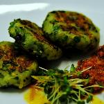 Pea n Potato cake with Toga chutney