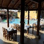 Restaurant and main pool with bar