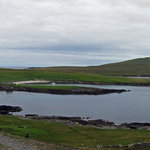 The island of Noss, panorama taken from the Bressay carpark.