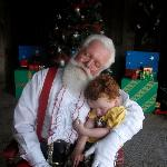 "Santa ""napping"" with my grandson"