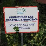 A family-friendly place: no making out allowed!