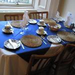 Breakfast table #2 by the window seats 4