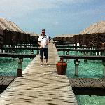 Walkways to the water villas and escape water villas