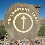 Yellowstone trail marker