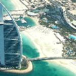 View of our hotel (Jumeirah Beach) and the 7* Burj al Arab