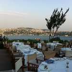 View of the Bosphorus from our table