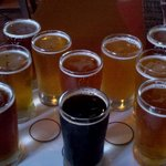 Sampler of all beers on premises.