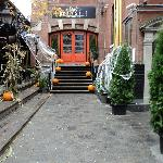 Older photo of Brassai decorated for Halloween.
