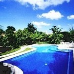 Refreshing Pool at Amigos Hostel Cozumel