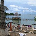 Esta es una vista de la isla
