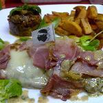 entrecote aux fromages corse et jambon grillé